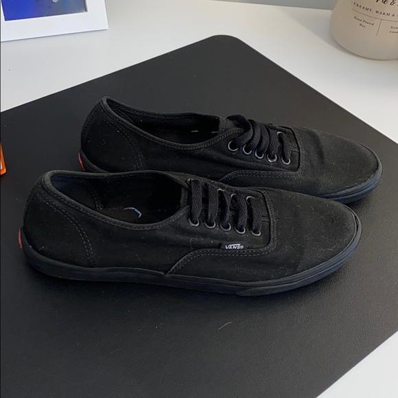 Vans Shoes | Solid Black Low Vans With